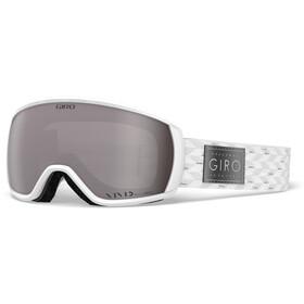 Giro Facet Lunettes de ski Femme, white-silver shimmer w vivid onyx